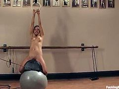 This slender and kinky honey Lana Violet gets naked and a fucking machine is going to make her feel pretty good. Locker room is such a perverted place.