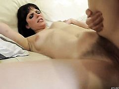 Jon Jon lets Mark Wood shove his cock in her asshole after cock sucking