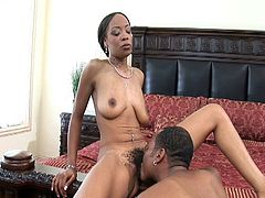 Porner Premium brings you an amazing free porn video where a vicious ebony slut gets her cunt drilled into heaven by a hung chocolate stud. She's ready to cum VERY hard!