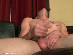 That man is insane to jerk off, even though he is tired and needs some rest. But, he devotes himself to this gay solo scene!