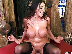 Danny Mountain has fantastic sex with Ariella Ferrera with massive melons