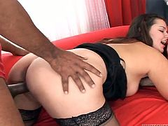 This guy dresed like Mario fucked her fresh looking and wet pussy of hers on sofa as she spreaded her thighs to the sides.Watch him fuck that pussy really hard in Fame Digital sex clips.