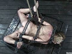 Sassy blondie is being tortured till she loses her mind
