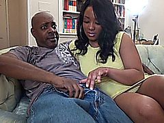 Kandi & Vanessa get fucked by big black cocks on the couch