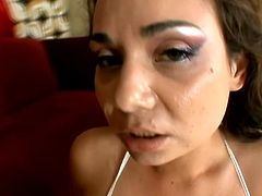 Busty brunette adores to wank her pussy while her boyfriend stabs her with his fat mighty sausage because that will make her feel the highest pleasure