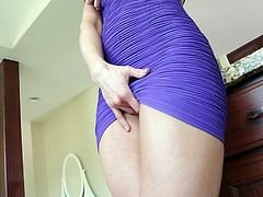 She wants to play with her pussy and he comes and sees it. He excites and she gets seduced him in steamy Wicked sex video!