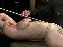Mahina Zaltana is going to be tied up, tortured with clothespins and severely toyed so she can be exhausted with forced orgasms.