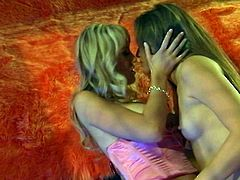 To me, there is nothing quite like hot lesbians with big tits playing with each other's delicious pussies. Check out this breathtaking sex video now and I'm pretty sure you will like it.