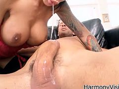 Make sure you check out Angelina Valentine in this hot hardcore action! She deepthroats on his long cock and gets it right in her trimmed hole!