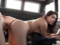 Watch this sexy babe Valentina Nappi in this hot outdoor video where you will see her and her lovely big tits gets fucked in the van.We offer her ride in the van but she also rides the huge cock in her tight trimmed pussy.