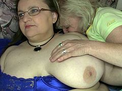 These fat lesbians with big boobs are more than just good friends. They are lesbians. They are horny as hell and more than eager to lick each other's pussies. Check out this hot sex video now to see what else these naughty women are up to.