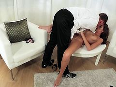 That man takes her out for a date and of course this date is going to end up with a wild wild penetration deep in her wet cave!