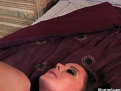 Unthinkably sexy babe Penny Flame does dirty things and then gets her pretty face jizz covered