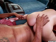 Voracious slut Edyn has got bit boobs and ample round ass. She takes monster black dong from behind getting pounded deep and rough. She then rides solid pecker on top. Mind-blowing Bang Bros Network fuck video.