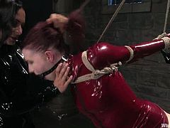 Femdom action is going on in here! Sizzling and steaming hot Claire Adams is enjoying her possession over Sandra Romain! It's amazing!