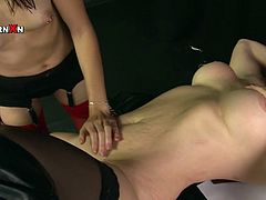 Time for some proper fisting. Naughty chick spreads her legs wide indicating how bad she wants her lesbian friend to fist her snatch. What a filthy whore!