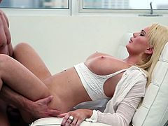 Alexis Ford screams of pleasure by having huge dick pounding her tight pussy
