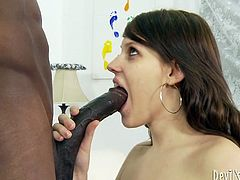 At first, she gives him awesome blowjob. Then she gets her wet twat banged lying on the back and then rides his hard cock in steamy Fame Digital xxx video!