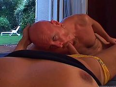 Lustful transsexual hotties get their big cocks sucked by guys. One of them gets ass fucked and facialed massively.