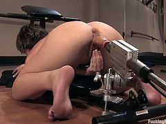 Kinky and filthy girl Katie St. Ives gets naked to test her new fucking machine. This is a new generation of machines and babe loved it so bad!