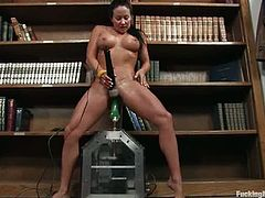 The big boobed girl in this video is going to find all the solutions to her problems solved by a fucking machine that bangs her hard.