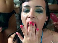 Do you like female treesome? Then watch this! Three horny big titted babes gets fuck by their stapons and reach orgasm in steamy Fame Digital xxx lesbian video!