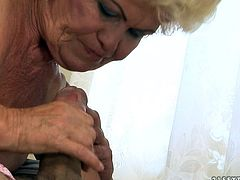 Watch this granny taking that large and fat cock into her mouth and taking it deepthroat while rubbing her pussy in 21 Sextury sex clips.