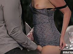 Klarisa Leone is a shapely cutie who knows how to appreciate a good, hard cock. She sucks her lover's juicy meat stick with unbridled passion like a dirty whore. Check out this breathtaking sex video now and I'm pretty sure you will appreciate her cock sucking skills.