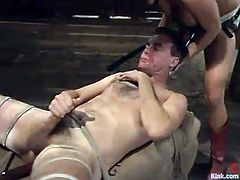 Hardcore BDSM with a slutty chick Tory Lane and her boyfriend Wild Bill. No doubt that Tory dominates over Bill and here is how it happens!