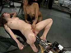 Two amazing and smoking hot babes Seda and Yasmine De Leon are sharing that insane fucking machine. They prefer it to any man on earth!