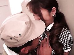 Tsubasa Amami feels the best feeling ever with mans sticky jizz all over her face