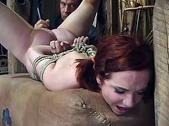 Bondage video with submissive Pinky Lee getting punished