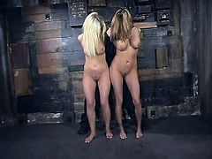 Here are these two smoking hot blond babes, who can't stand even a day without being tortured. They can be called BDSM queens as they do it good!