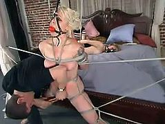 This passionate and desirable chick Adrianna Nicole and Lorelei Lee, the slutty slave, are going to be tortured by that lucky asshole!