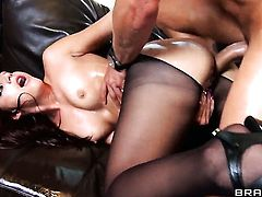 Van Wylde cant resist charming Mischa Brookss acttraction and bangs her asshole like crazy