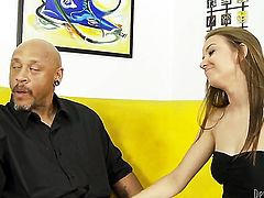 Pressley Carter loves getting her beaver penetrated in interracial action
