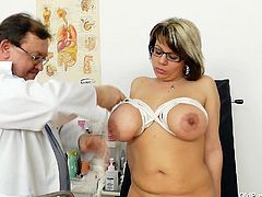 Stepanka is in great shape and health but still she's at her doc! This slut didn't came her for a medical exam, she came especially for her favorite doc. The old guy knows what she likes so he gets started. First, the doc ties her boobs with rope, uses some suckers for her nipples and then for her cunt. Wanna see more?