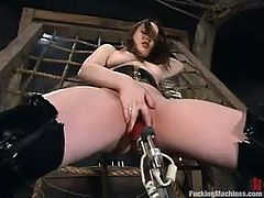 This desirable and lusty babe Dana Dearmond is so fucking hungry! She gets naked and a fucking machine makes her feel so fucking hungry!