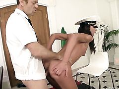 Rocco Siffredi makes Nataly Gold scream and shout with his hard man meat in her butt