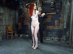 This divine and slender hottie Calico is the next top sex slave of BDSM world! She loves pain so much. Better that a damn orgasm.