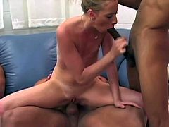 Wild experienced black bulls Sledge Hammer, Jason Brown and Shane Diesel with meaty monster cocks play with skinny tanned slut and stretch her tight holes in rough bang bang.