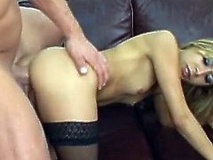 Small tits latina Kat enjoys this large dick in all her holes in exchange for cash