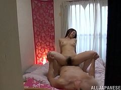Gorgeous and sizzling Japanese angel gets naked and her man is a lucky one to see her naked and stick is dick in her pussy! Love is everything!