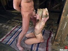 Kimberly Kane ges brutally fucked by Mark Davis in a barn