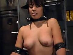 Maya lets her lesbian GF Selina Minx tie her up in a basement. Selina attaches wires to Maya's boobs and vag and then shows her fingering and toying skills.