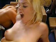 Needy sluts love having their tight vags drilled hard in amazing group action porn show