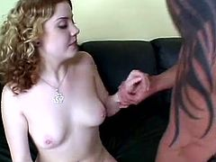 Nasty redhead chick Cherry Poppens is having fun with tattooed stud Lee Stone. They fondle each other passionately and then fuck in the reverse cowgirl and other positions.