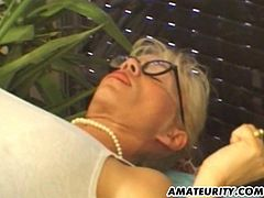 A very naughty blonde amateur French Milf does anal with her husband