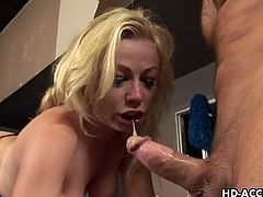 Adrianna Nicole gags for massively thick cock deep inside hr cum starving throat. She is ready to go supreme with her every moves for that lucky hunk. She looks like she's crying but it's all because of so much pleasure.