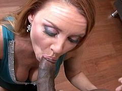 Mrs. Mason was pissed off because of her driveway being blocked. She went to her neighbor's house to complain, but she got a big black cock to calm her down instead.